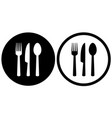 restaurant sign with spoon fork knife icons vector image vector image