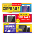 sale banner set up to 50 percent off vector image vector image