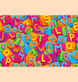 seamless pattern alphabet vector image