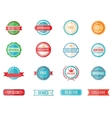 set colored emblems and stamps vector image vector image