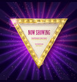 shining retro triangular light banner vector image vector image