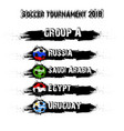 soccer tournament 2018 group a vector image vector image