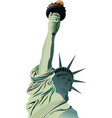 statue of liberty in new york vector image