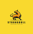 strong bull concept template vector image