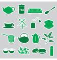 tea stickers set eps10 vector image vector image