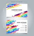 template name card abstract colorful rounded vector image vector image