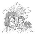 thanksgiving day cartoon vector image vector image