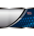 usa metal background vector image vector image