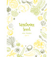 vegetarian food vegetable hand drawn vintage vector image vector image