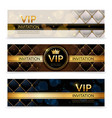 vip banners premium invitation card luxury vector image vector image