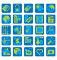 website and internet icons in flat style vector image