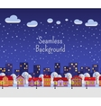 winter seamless background vector image