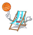 with basketball beach chair character cartoon vector image