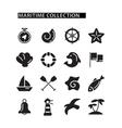 Marine icons set vector image