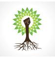 Unity hand make tree vector image
