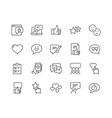 Line Testimonials Icons vector image