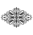 rombus flower ornament vector image