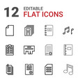 12 sheet icons vector image vector image