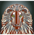 animals lion red technology cyborg metal robot vector image