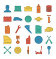 auto service doodle icons set vector image vector image