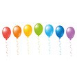 Balloons rainbow vector image vector image