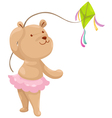 bear with a kite vector image vector image