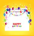 birthday holiday ballons vector image vector image