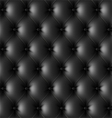 Black leather upholstery pattern vector image vector image