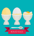 breakfast soft boiled eggs simple flat design vector image