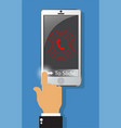 calling alerted on screen to smartphone vector image