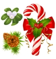 candy cane Christmas tree mi vector image