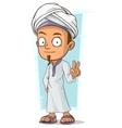 Cartoon young Arabian boy vector image vector image