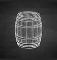 chalk sketch of wooden barrel vector image