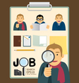 characters job search set vector image vector image