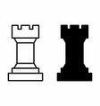 chess tower icons vector image vector image