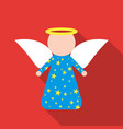 christmas angel icon in flat style isolated on vector image vector image