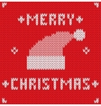 Christmas Card with knitted texture vector image vector image