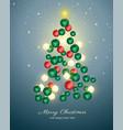 christmas tree made with christmas balls vector image