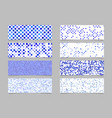 circle pattern banner background set - modern vector image vector image