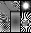 comic monochrome dark concept vector image