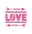 creative love greeting card or invitation happy vector image