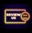 customer review icon in neon line style user vector image