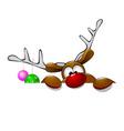 Cute Christmas reindeer Rudolf vector image