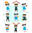cute students vector image vector image