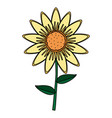cute sunflower cartoon vector image