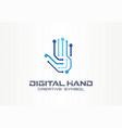 digital hand creative symbol concept robot arm vector image vector image