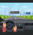 driving car safety concept vector image