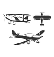 elements for airplane emblems labels vector image vector image