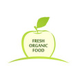 emblem of fresh organic food with green vector image vector image