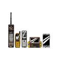 evolution set mobile phone vector image vector image